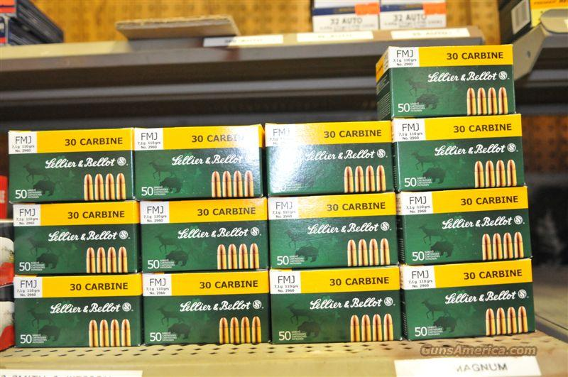 650 Rounds Sellier and Bellot 30 Carbine 110 FMJ  Non-Guns > Ammunition