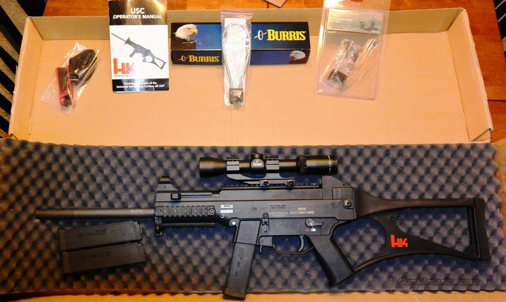 Heckler & Koch H&K USC .45  Guns > Rifles > Heckler & Koch Rifles > Tactical