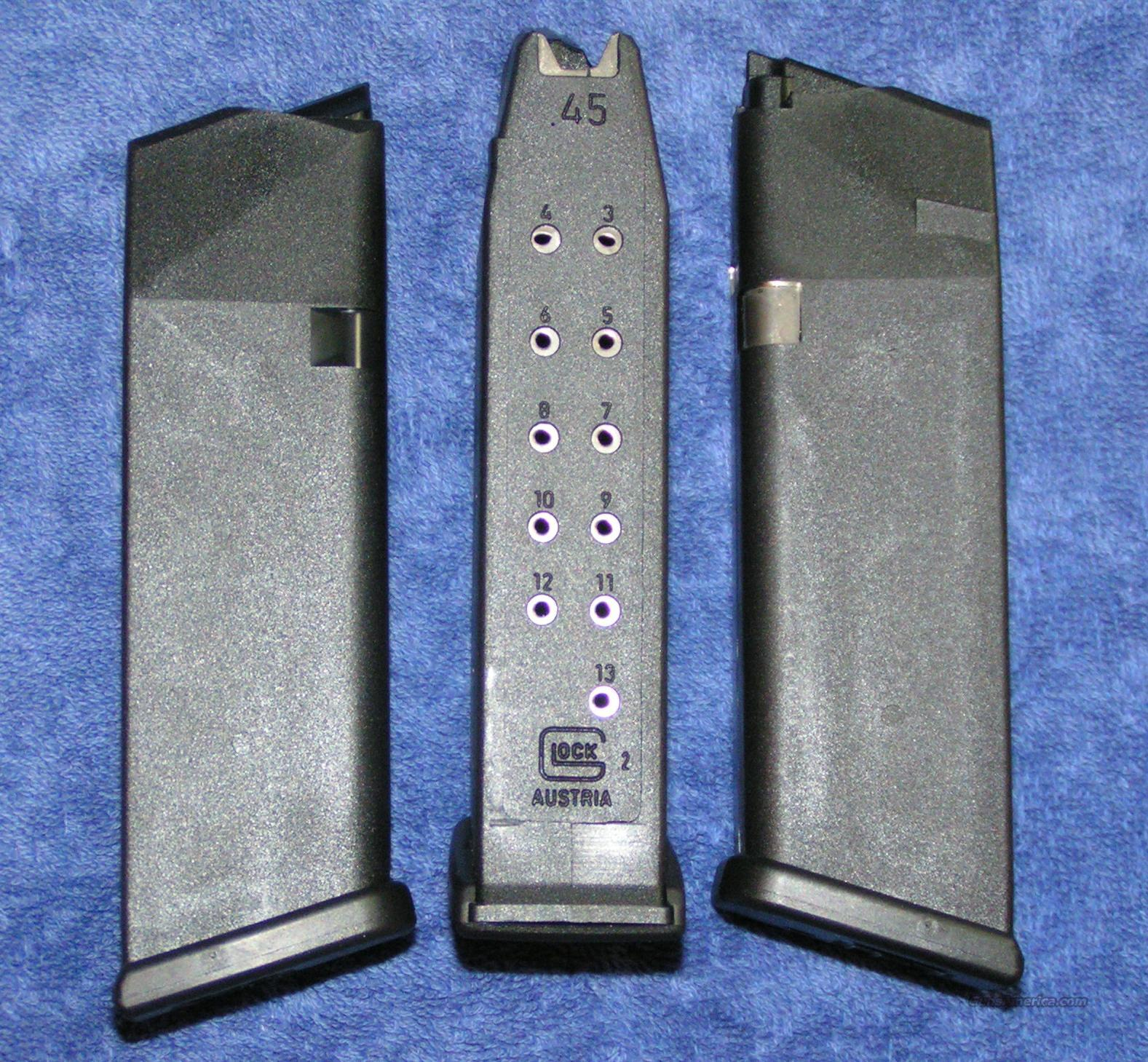 3 Glock 21 mags. New factory 45ACP 13 round Gen 4 $25 ea  Non-Guns > Magazines & Clips > Pistol Magazines > Glock