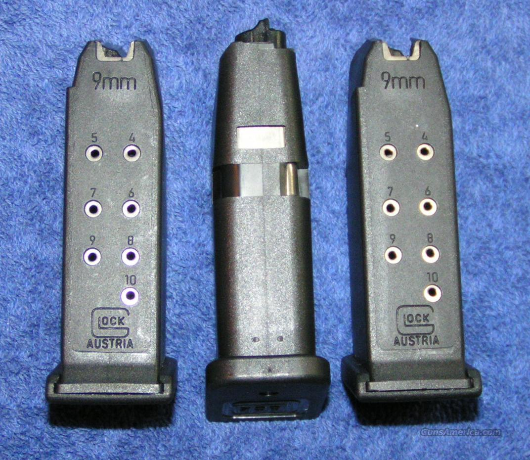3 Glock 26 mags. New factory 9mm 10 round $35 ea  Non-Guns > Magazines & Clips > Pistol Magazines > Glock