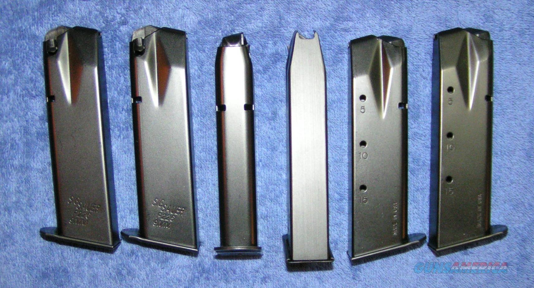 6 Sig P226 mags 15rd 9mm New factory Free Ship   Non-Guns > Magazines & Clips > Pistol Magazines > Sig