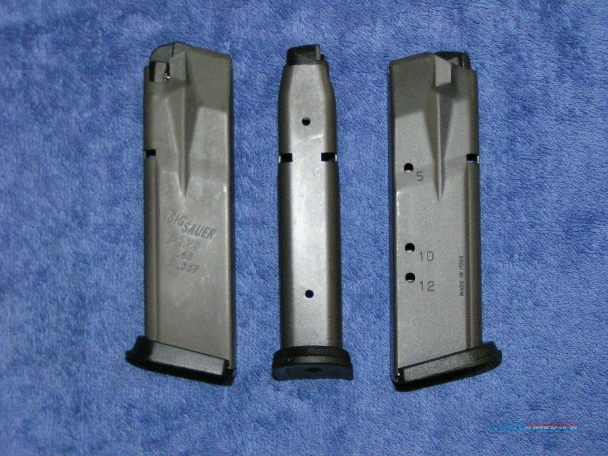 3 Sig P229 mags 12rd used factory Free shipping  Non-Guns > Magazines & Clips > Pistol Magazines > Sig