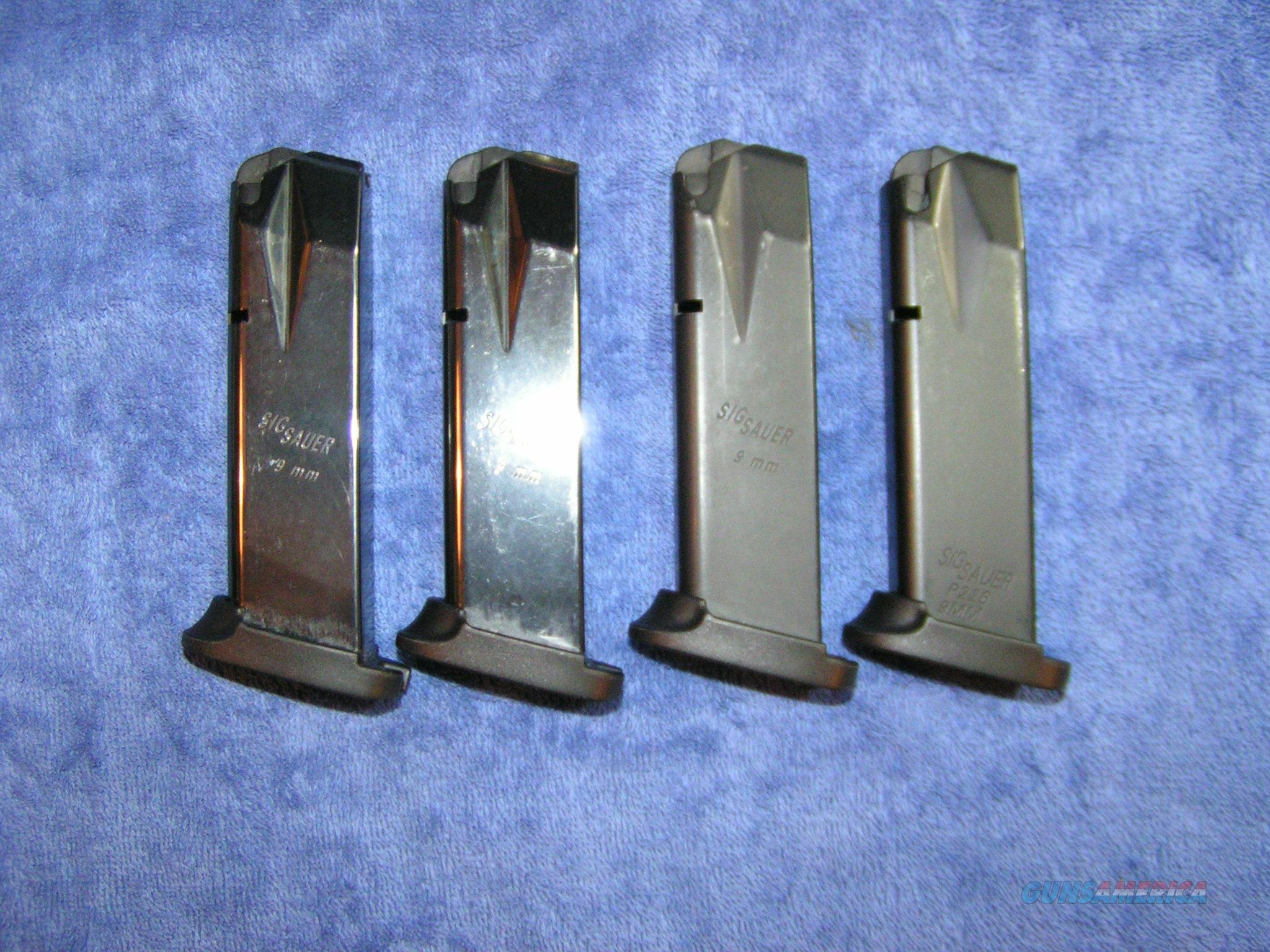 4 P226 mags 9mm 15 rd Sig with basepads used $27 ea  Non-Guns > Magazines & Clips > Pistol Magazines > Sig