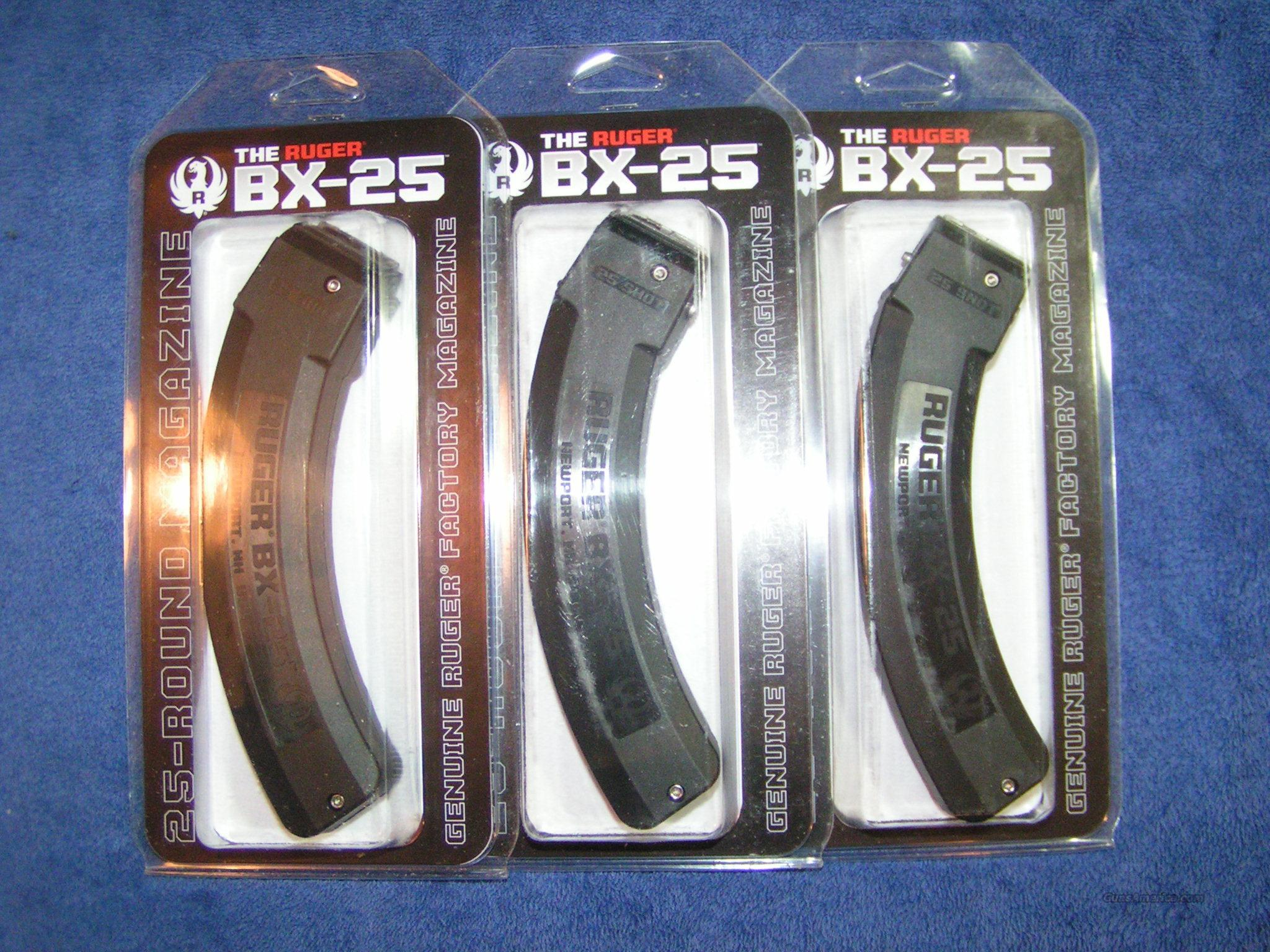 3 10/22 mags Ruger 25 rd BX-25 1022 Free shipping. $26 each  Non-Guns > Magazines & Clips > Rifle Magazines > Other