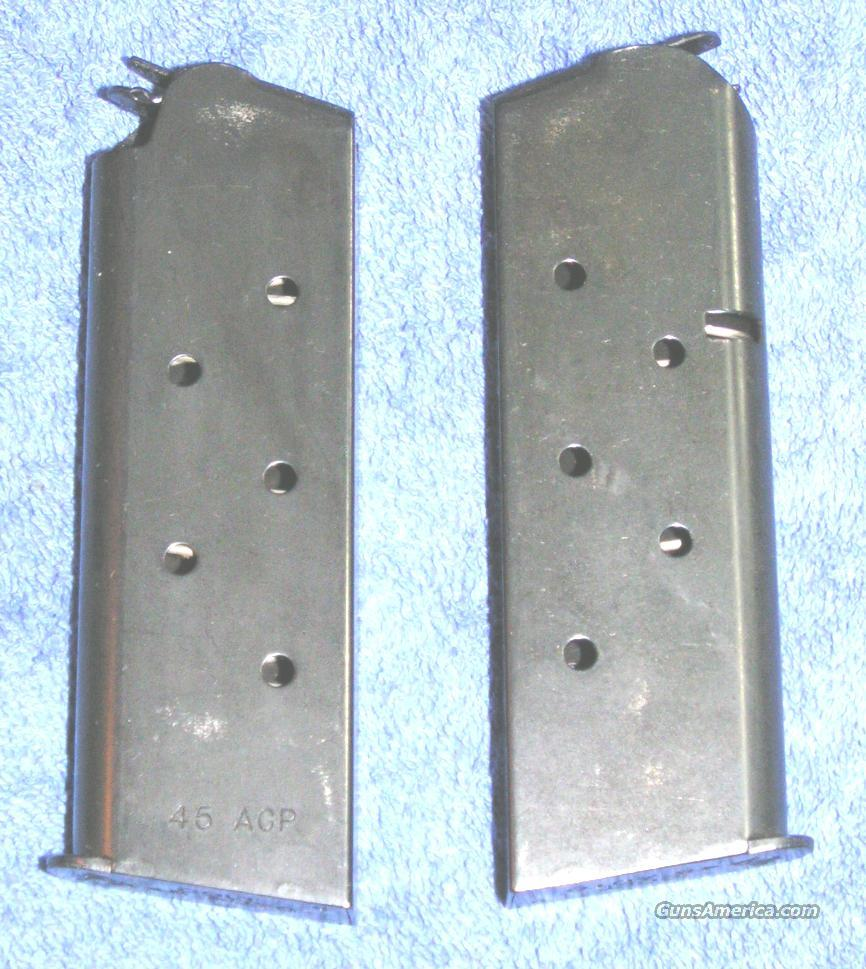 2 Colt officer's mags. Blue 6 round 45ACP $37 each  Non-Guns > Gun Parts > 1911