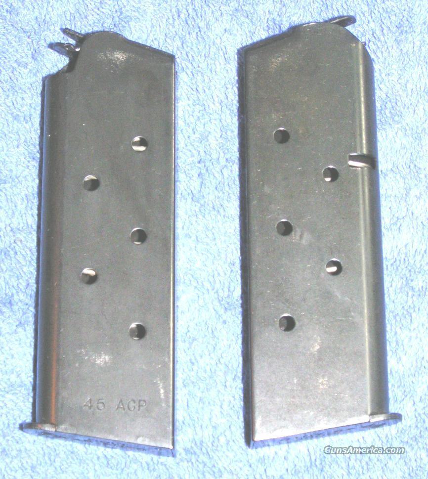 2 Colt officer's mags. Blue 6 round 45ACP $37 each  Non-Guns > Gun Parts > 1911
