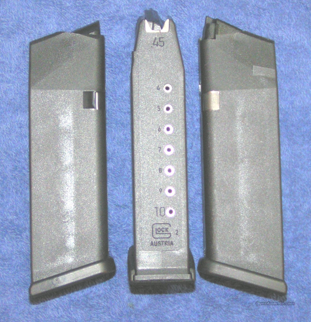 3 Glock 21 mags 10 rd 45ACP factory new 4th Gen.  $25 each  Non-Guns > Magazines & Clips > Pistol Magazines > Glock