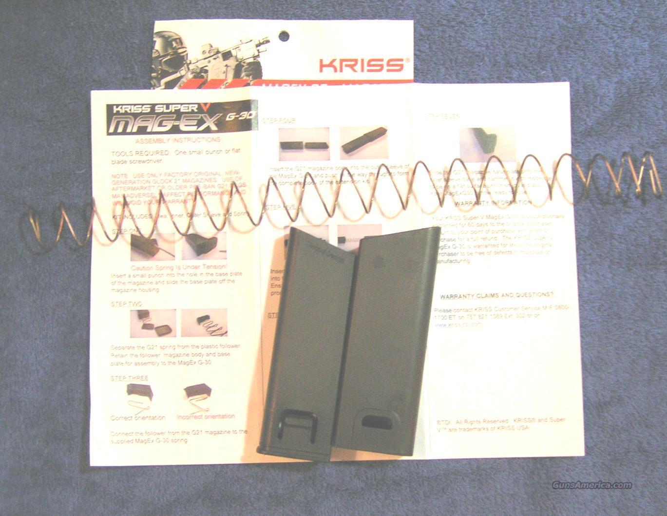 Glock 21 30 mag extension kit 25+ Kriss Super V Vector  Non-Guns > Magazines & Clips > Pistol Magazines > Glock