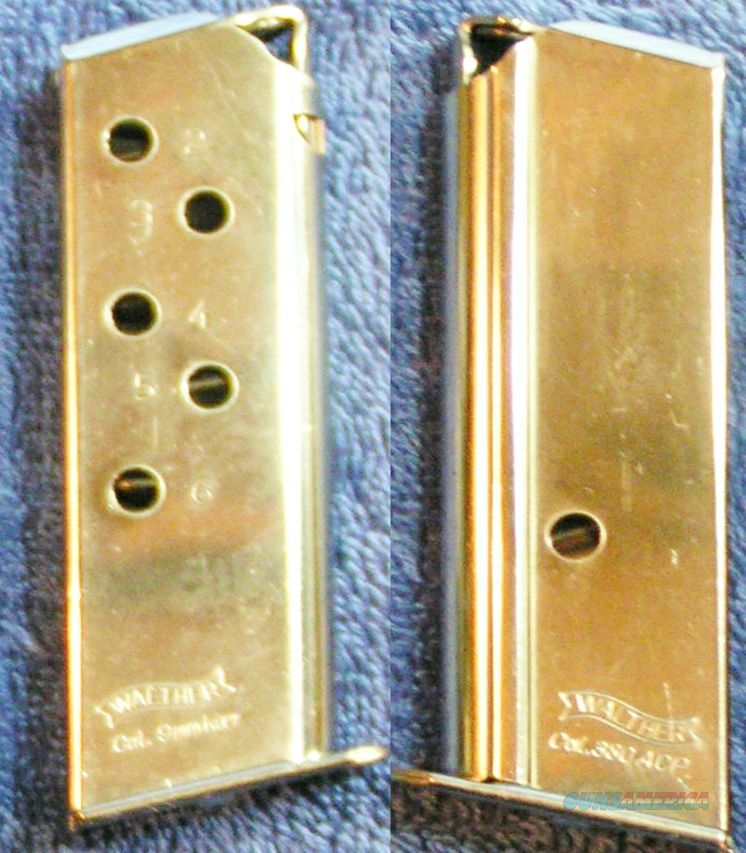 2 Walther PPK 380 mags 6 round Nickel plated .380  Non-Guns > Magazines & Clips