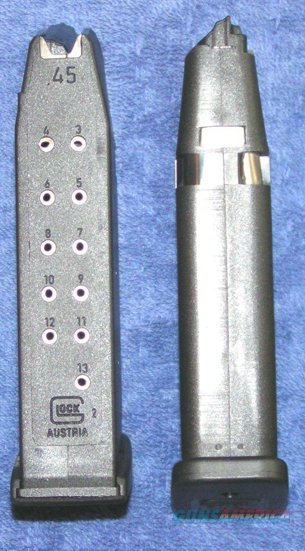 2 Glock 21 mags 13 round 45ACP factory Glock $27 each  Non-Guns > Magazines & Clips