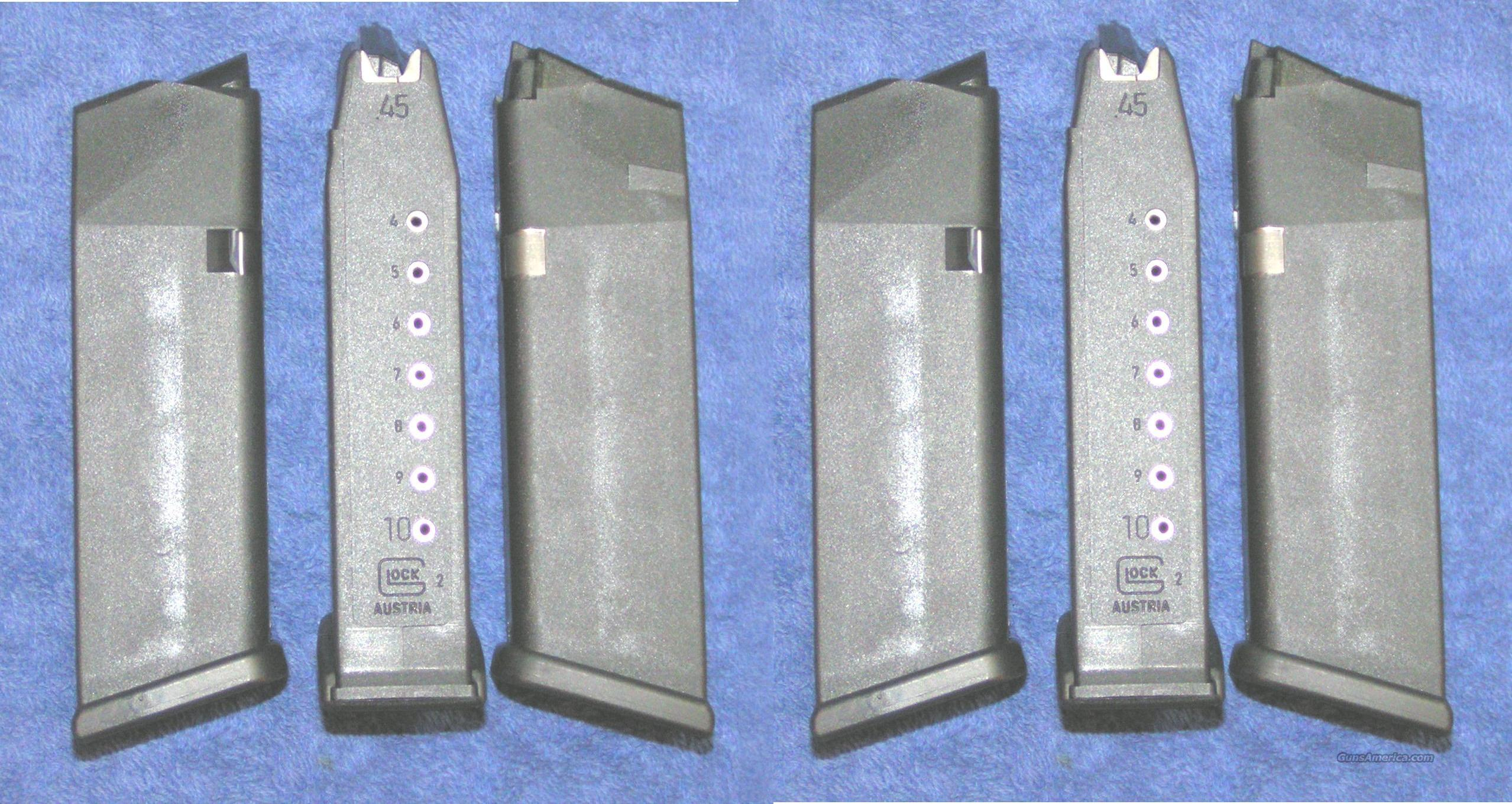 6 Glock 21 mags 10 rd 45ACP factory new $25 each  Non-Guns > Magazines & Clips