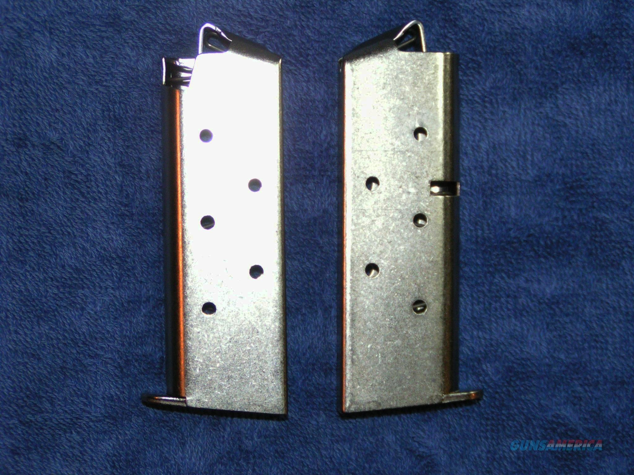 2 Colt Mustang mags. Nickel plated 6 round factory $37 each  Non-Guns > Magazines & Clips > Pistol Magazines > Other