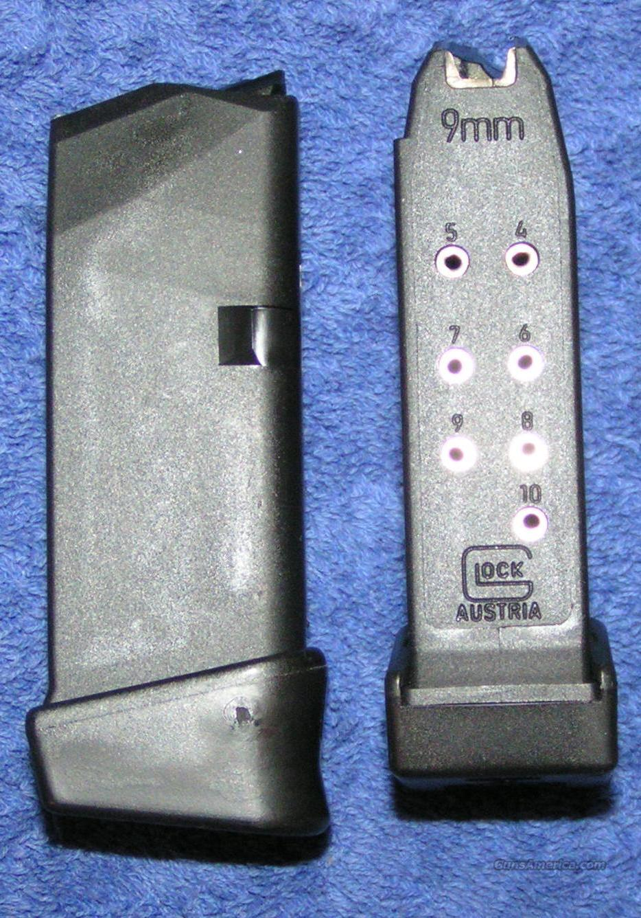 2 Glock 26 mags 9mm 12 round factory. New $26 each  Non-Guns > Magazines & Clips > Pistol Magazines > Glock