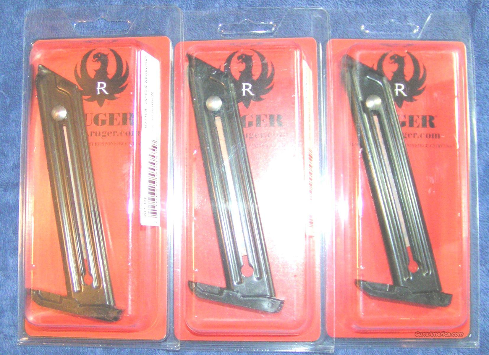 3 Ruger 22/45 mags factory Ruger 22LR $25 each  Non-Guns > Magazines & Clips > Pistol Magazines > Other