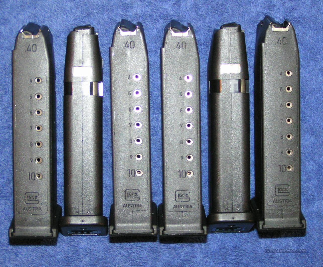 6 Glock 22 mags. 10 round NEW factory $25 each  Non-Guns > Magazines & Clips > Pistol Magazines > Sig