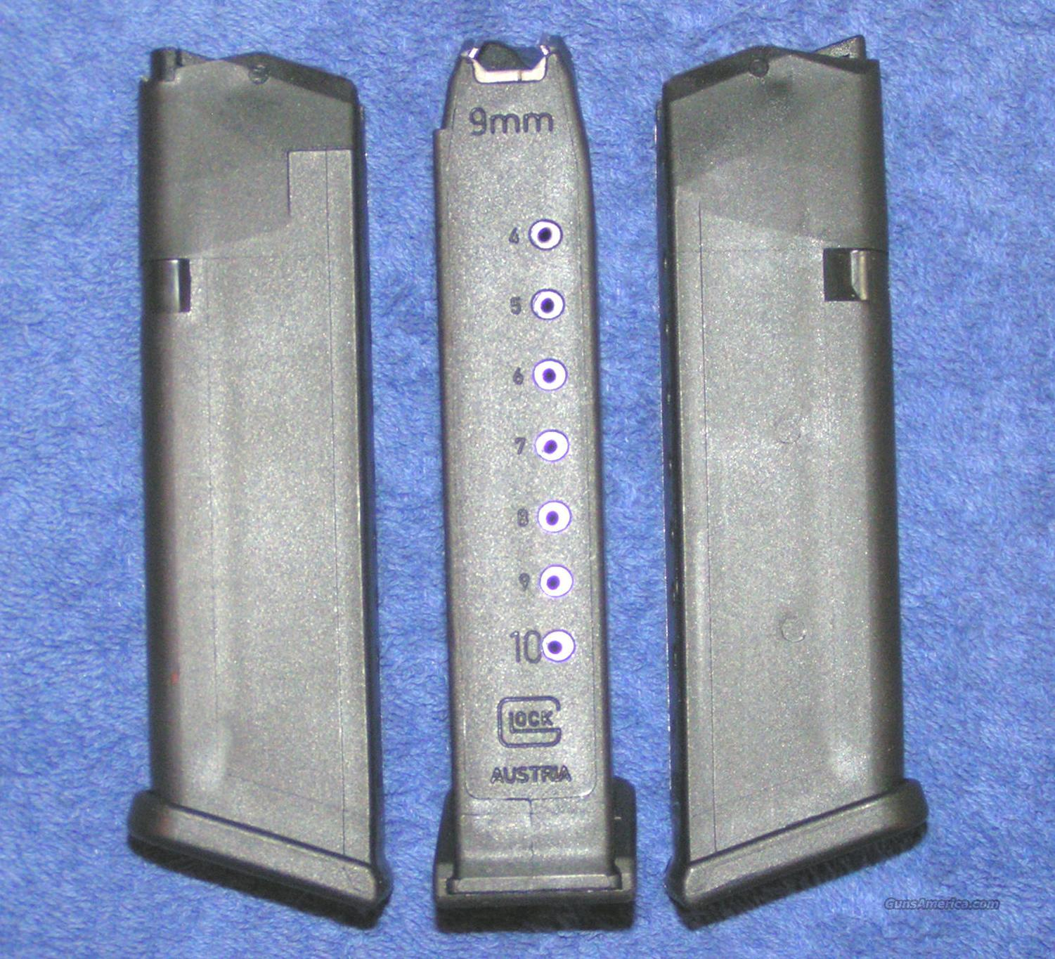 3 Glock 17 mags 10 rd 9mm 4th Gen. factory Glock $21 each  Non-Guns > Magazines & Clips > Pistol Magazines > Glock