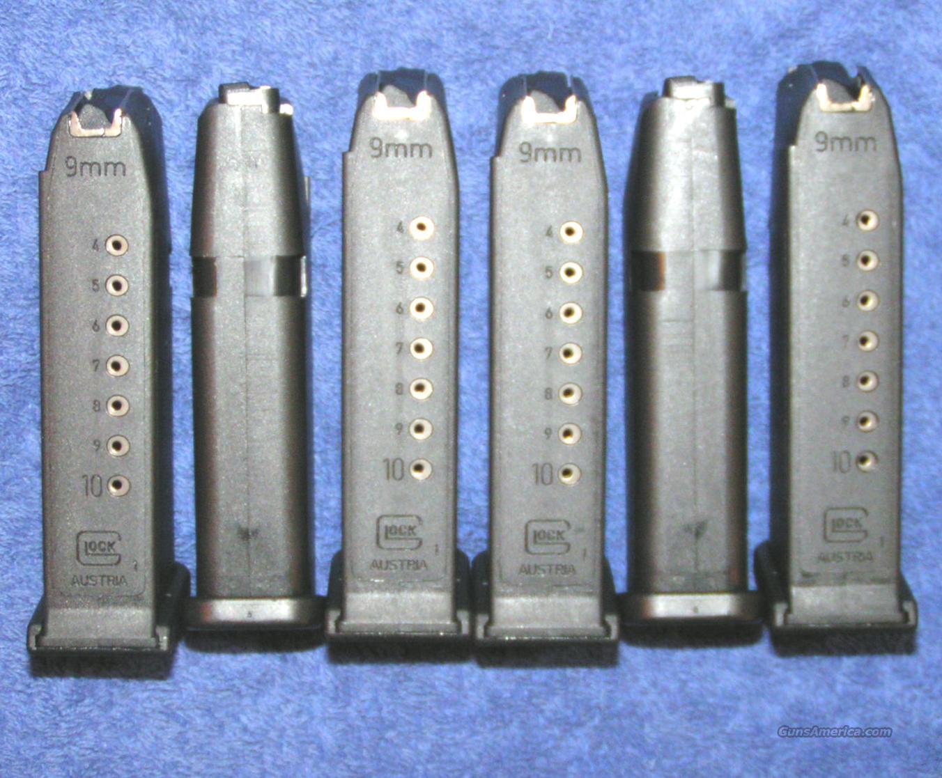 6 Glock 19 mags. New factory 9mm 10 round $23 ea  Non-Guns > Magazines & Clips > Pistol Magazines > Glock