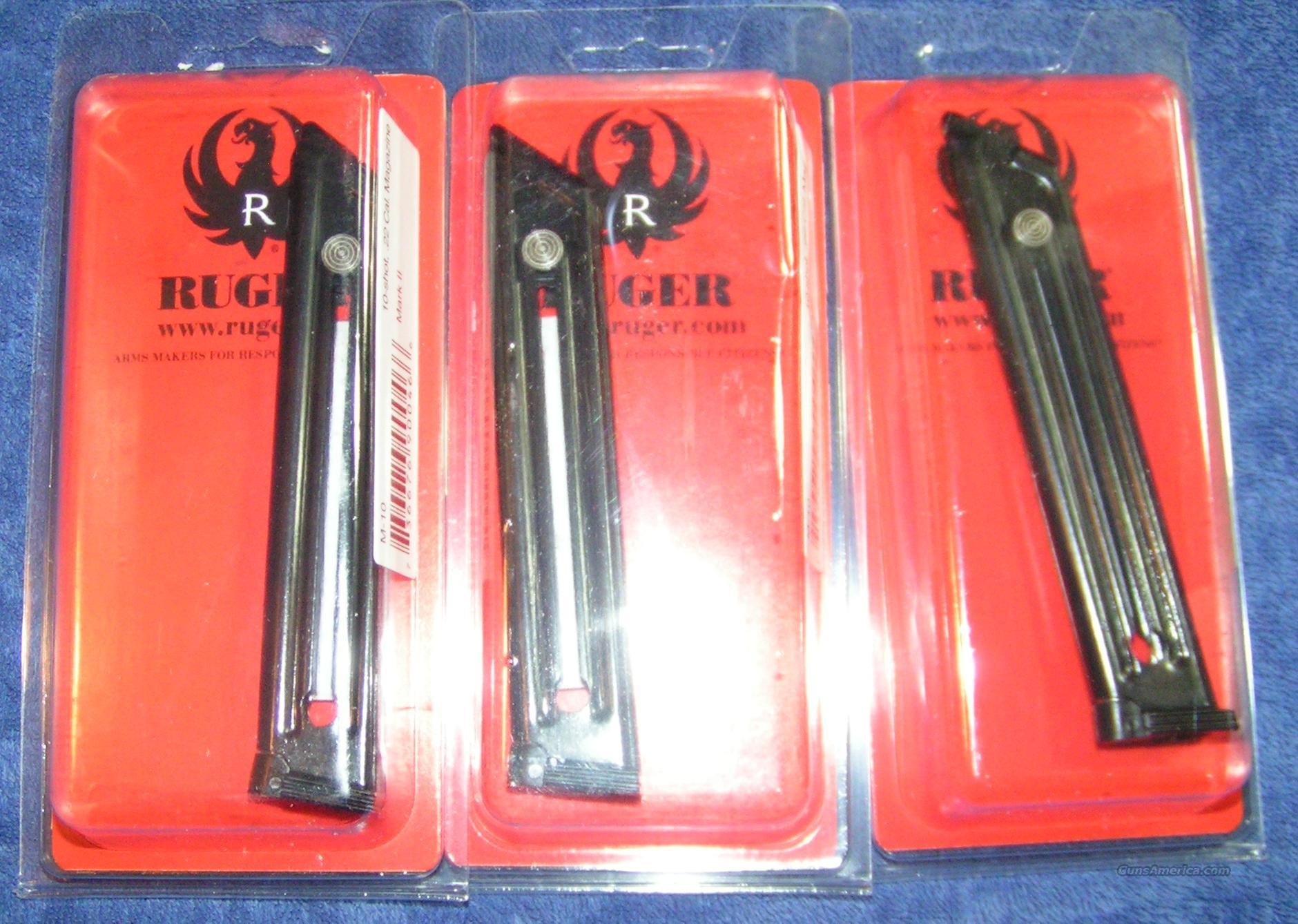 3 Ruger Mark III mags factory Ruger 22LR $27 each  Non-Guns > Magazines & Clips > Pistol Magazines > Other