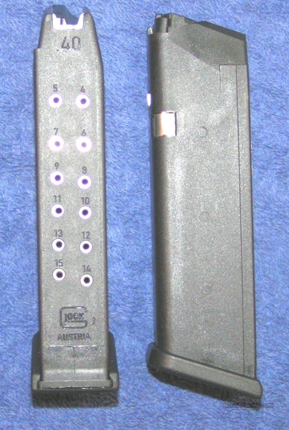 2 Glock 22 mags. 40S&W 15 round factory Glock Gen 4 $27 each  Non-Guns > Magazines & Clips