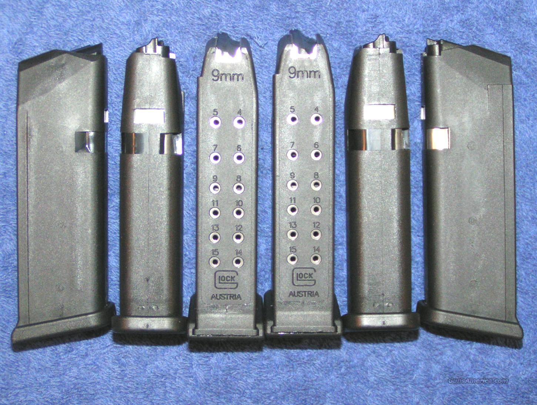 6 Glock 19 mags. New factory 9mm 15 round $23 ea  Non-Guns > Magazines & Clips > Pistol Magazines > Glock