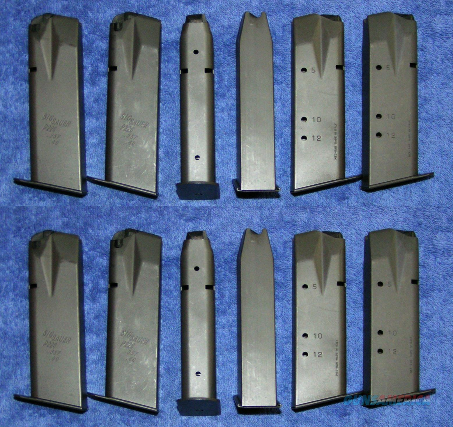 12 P226 mags 40/357 12rd used Excellent - LN factory Sig Free shipping  Non-Guns > Magazines & Clips > Pistol Magazines > Other