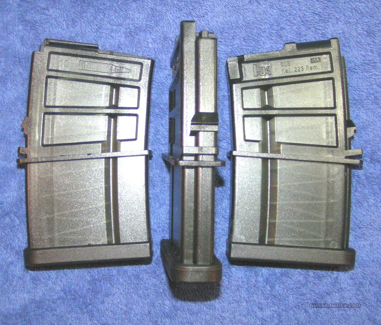 3 H&K SL8 mags 10 round factory HK .223 $47 each  Non-Guns > Magazines & Clips