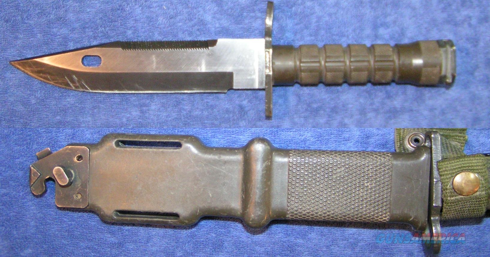 AR15 Bayonet Lancay M-9 used with sheath $75  Non-Guns > Gun Parts > M16-AR15