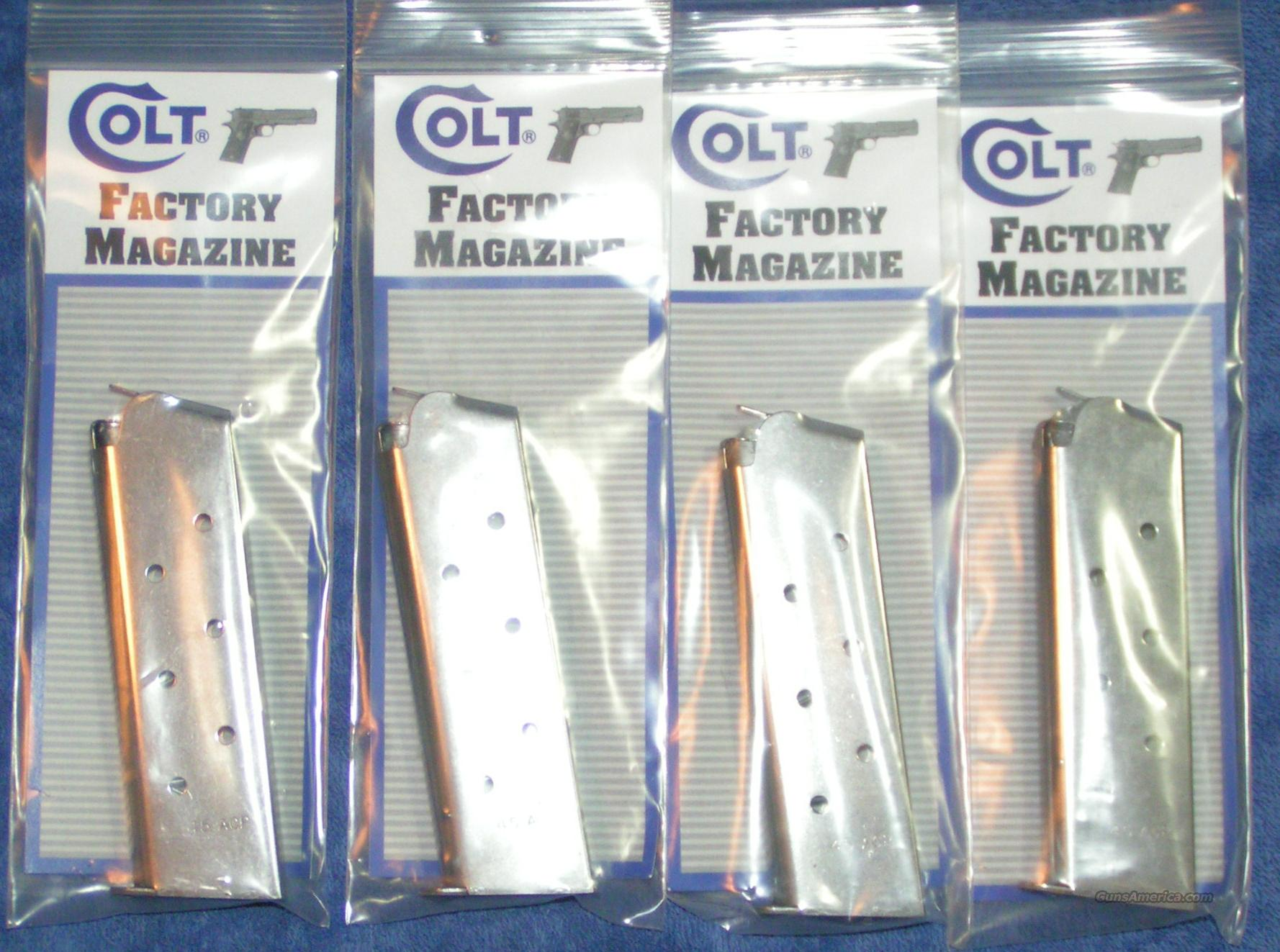 4 Colt 1911 mags. stainless 8 rd Govt $26 ea   Non-Guns > Magazines & Clips > Pistol Magazines > Other