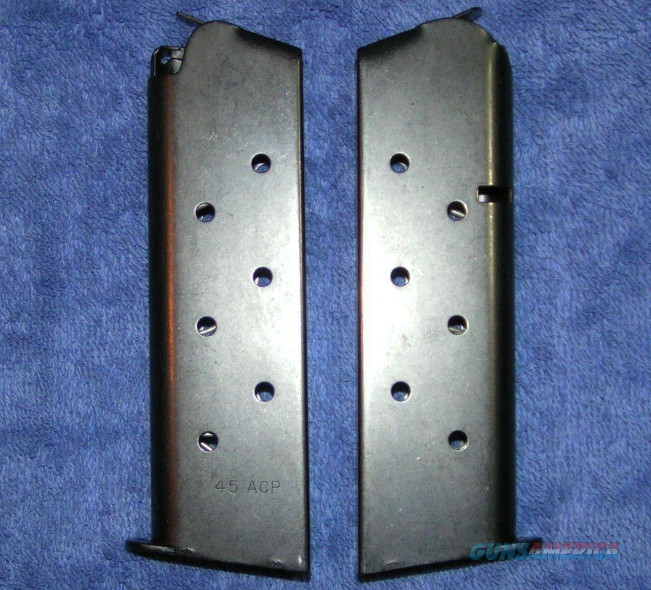 2 Colt 1911 mags. Blue 8 rd Government $30 each  Non-Guns > Magazines & Clips > Pistol Magazines > Other