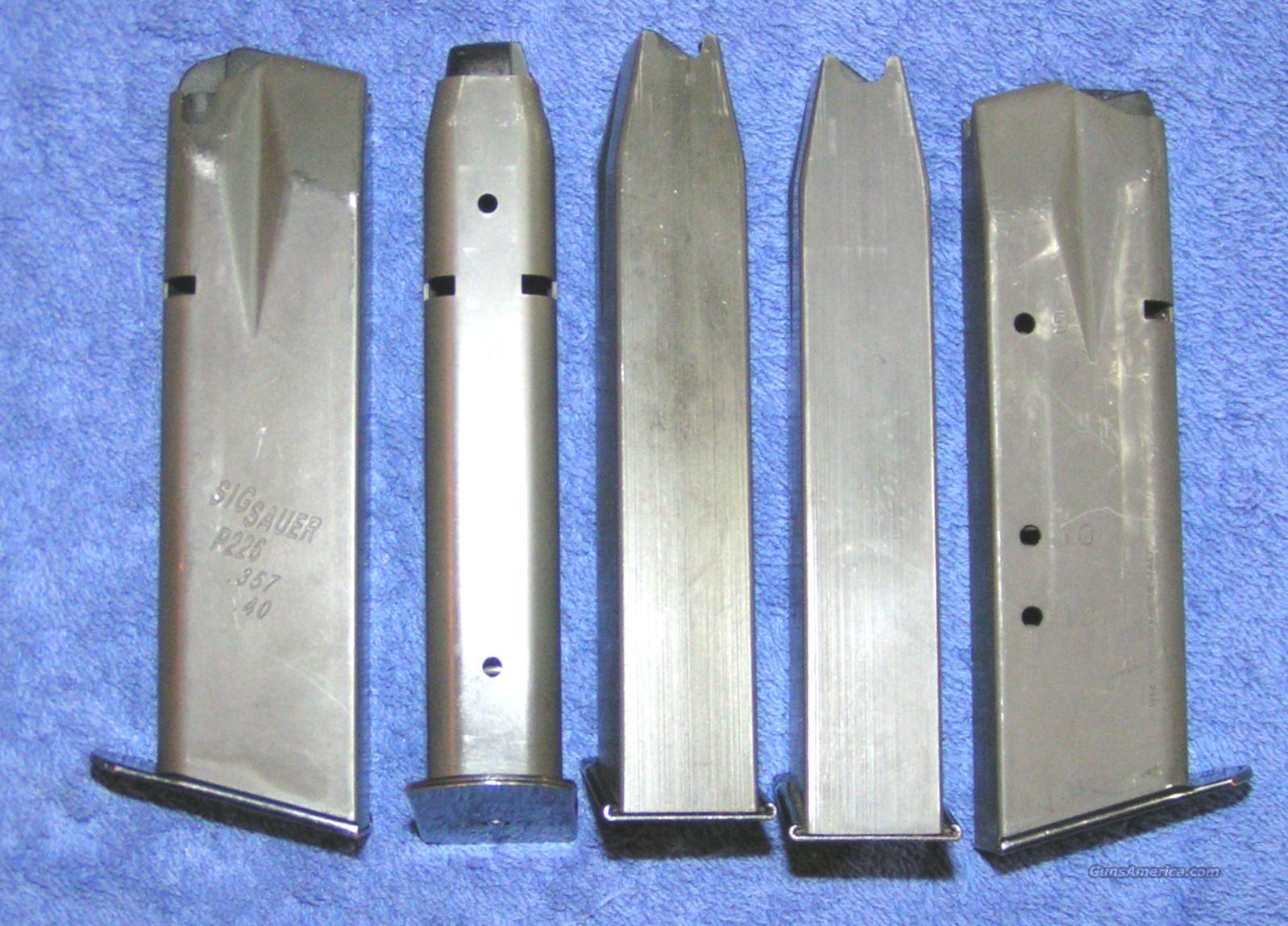 5 P226 mags 40 / 357 12 rd used factory Sig $24 each  Non-Guns > Magazines & Clips > Pistol Magazines > Sig