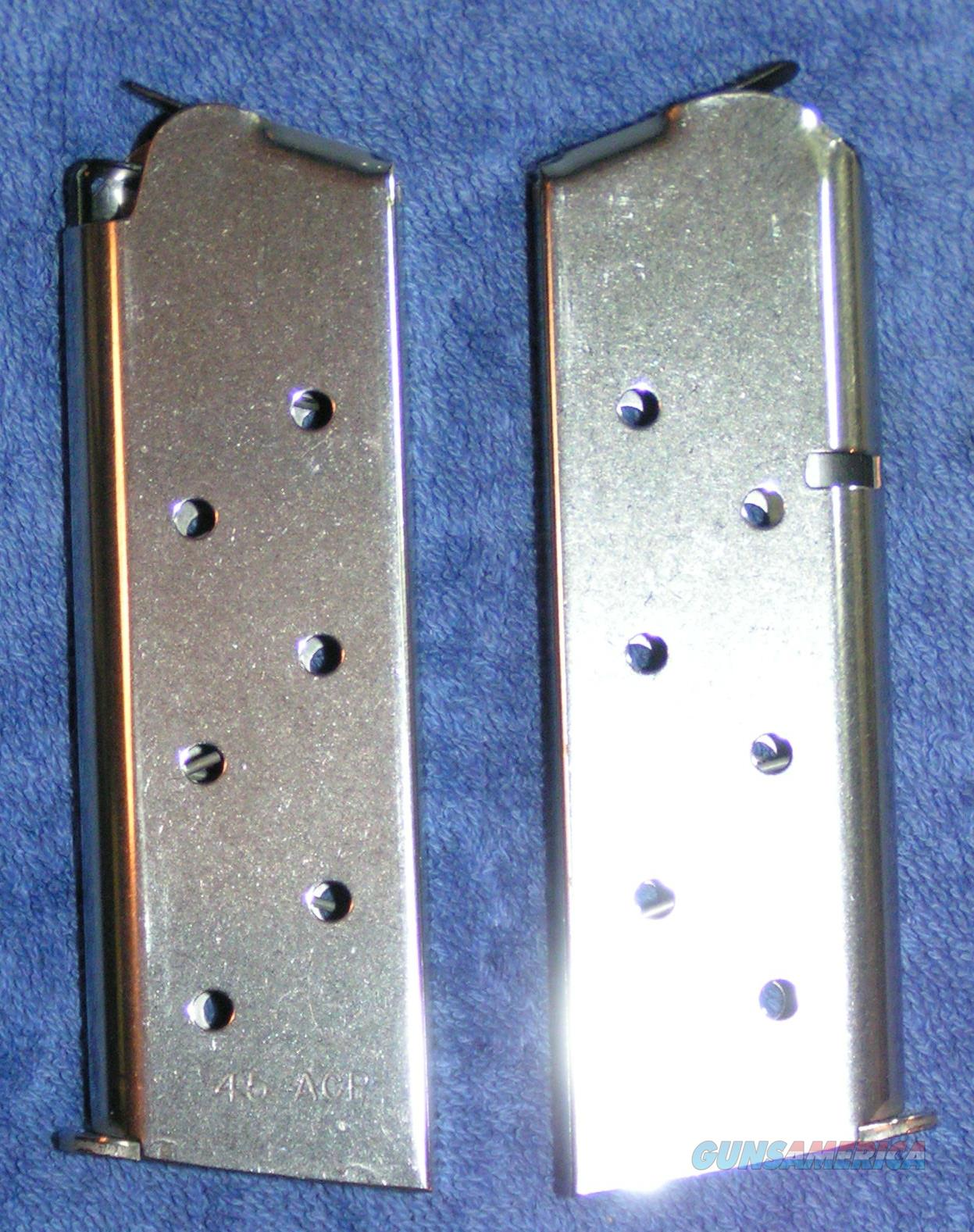 2 Colt officer's mags 7 rd stainless $37 each mag X 2  officers  Non-Guns > Magazines & Clips > Pistol Magazines > Other