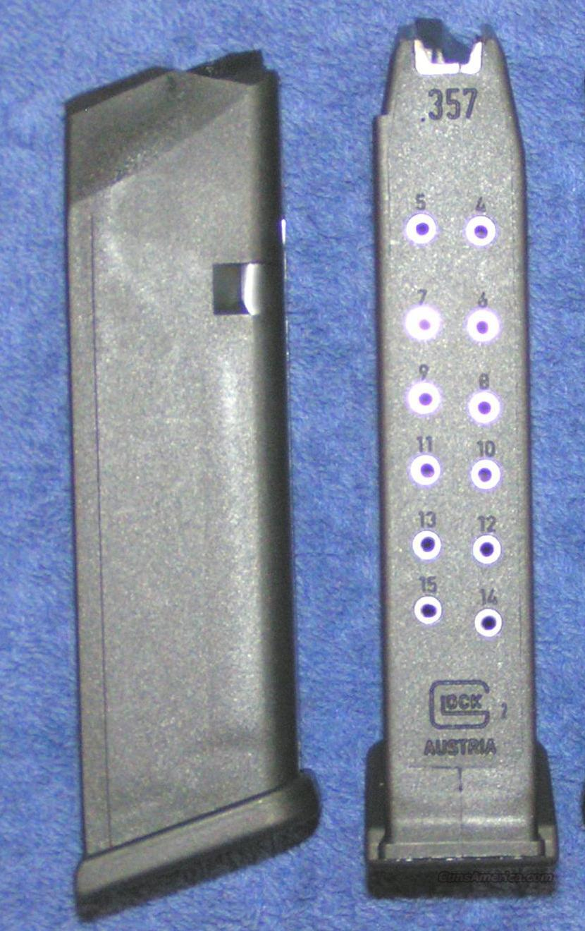 2 Glock 31 mags 357 15 round New Gen 4, factory Glock $25 each  Non-Guns > Magazines & Clips