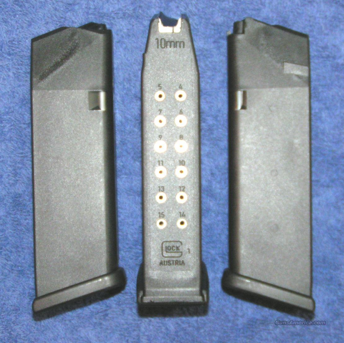 Glock 20 mag 10mm 15 round New 4th Gen factory Glock $27  Non-Guns > Magazines & Clips > Pistol Magazines > Glock