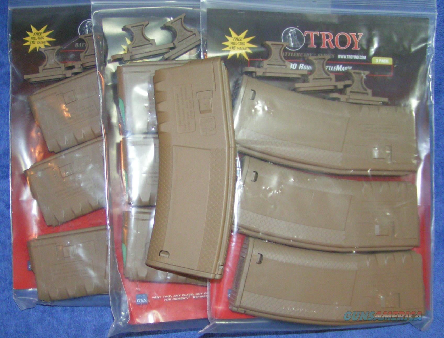 10 AR15 mags Troy Tan 30 round Free Shipping   Non-Guns > Magazines & Clips > Rifle Magazines > AR-15 Type