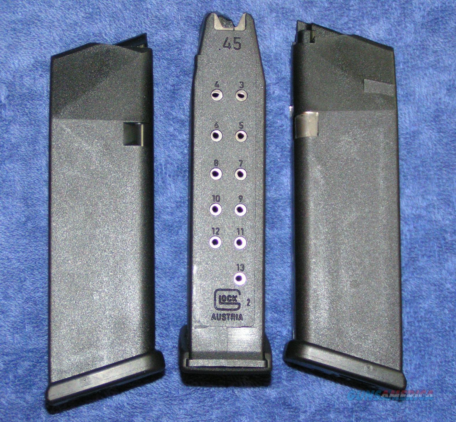 3 Glock 21 mags Factory 45ACP 13rd Gen 4 Free ship $19 each  Non-Guns > Magazines & Clips > Pistol Magazines > Glock