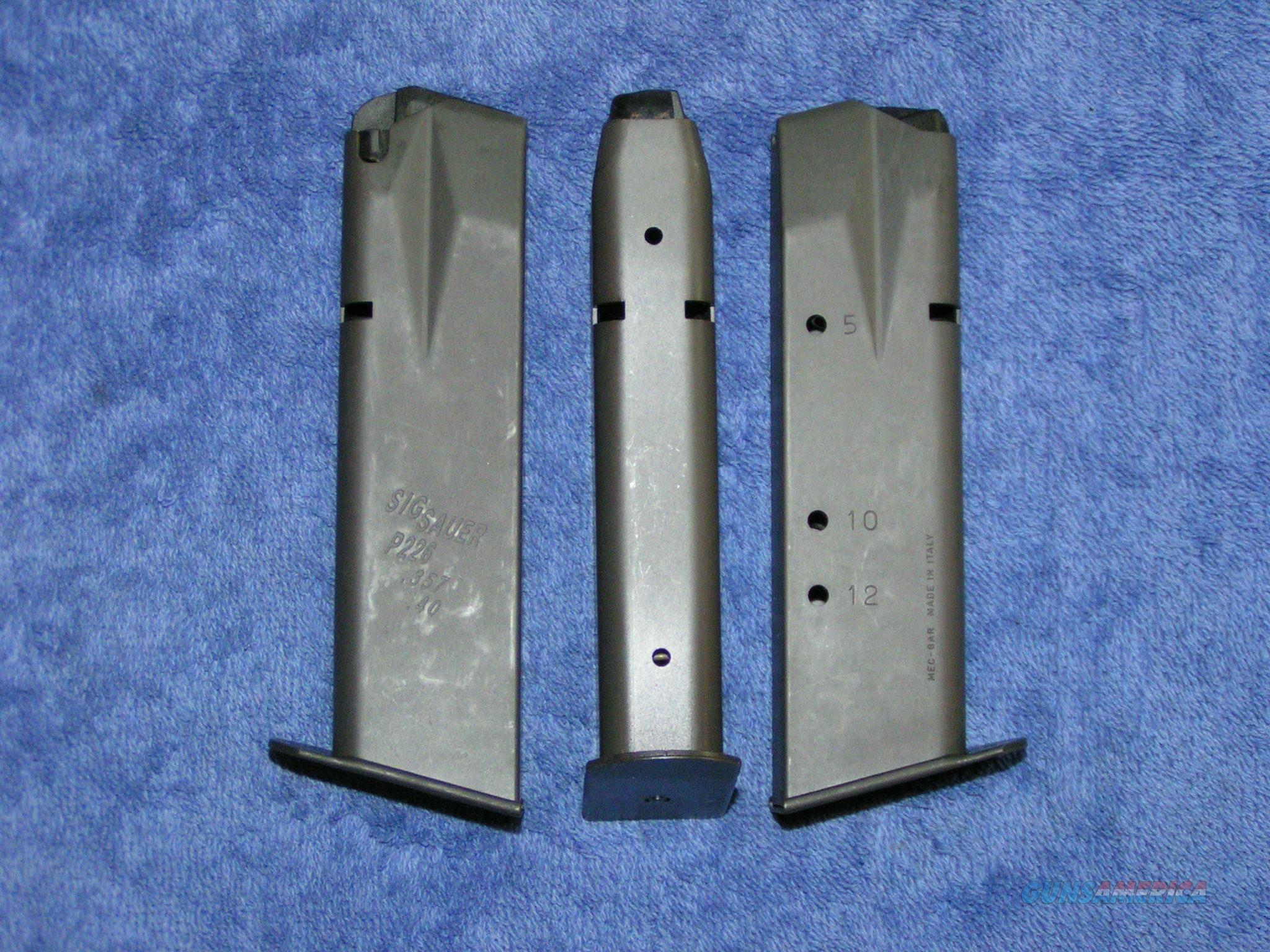 3 P226 mags 40 / 357 12 rd used factory Sig $26 each Free shipping  Non-Guns > Magazines & Clips > Pistol Magazines > Other