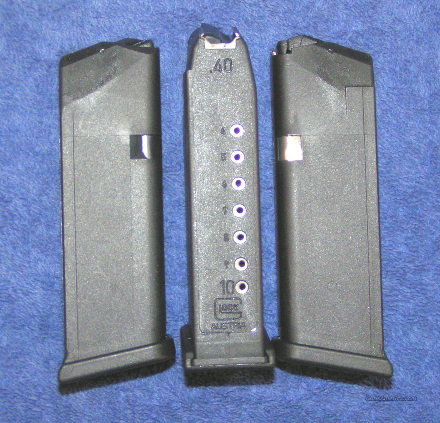 3 Glock 23 mags 10 rd 40S&W factory new $25 each  Non-Guns > Magazines & Clips > Pistol Magazines > Glock