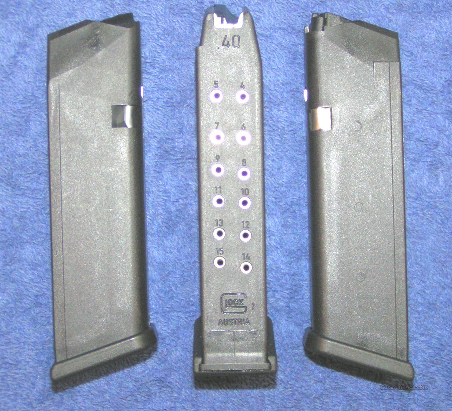 3 Glock 22 mags. New factory 40S&W 15 round $25 ea  Non-Guns > Magazines & Clips > Pistol Magazines > Glock