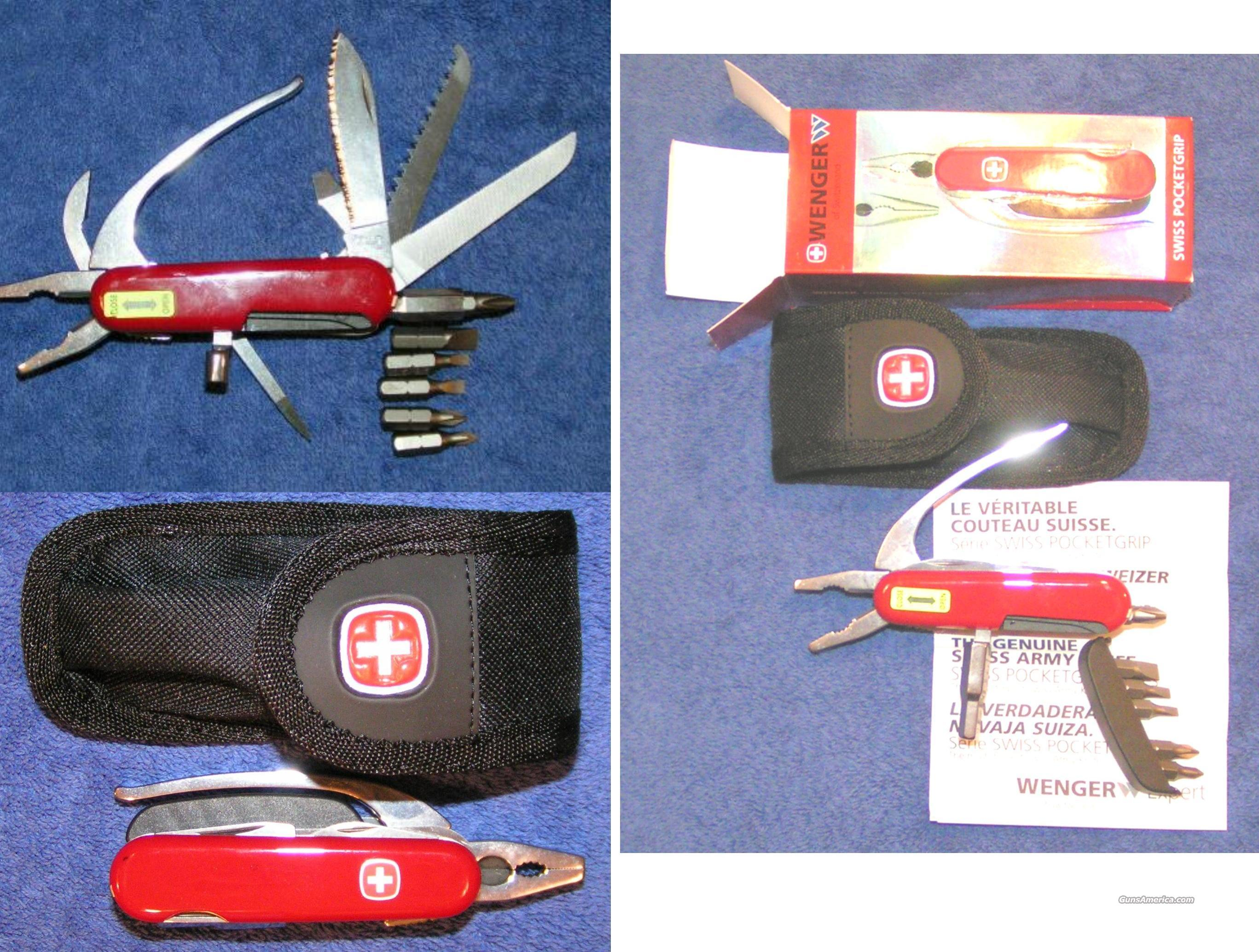 Swiss Army Knife Wenger Mini Grip W Pliers Poc For Sale