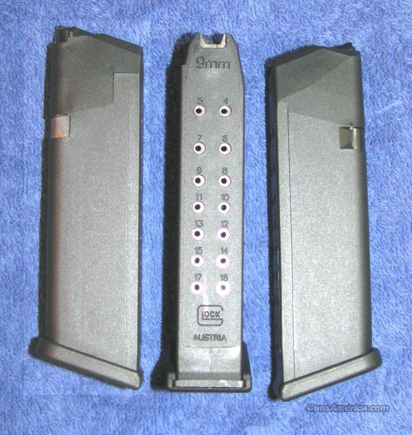 3 Glock 17 mags. New factory. 9mm 17 round $75 ea  Non-Guns > Magazines & Clips > Pistol Magazines > Glock