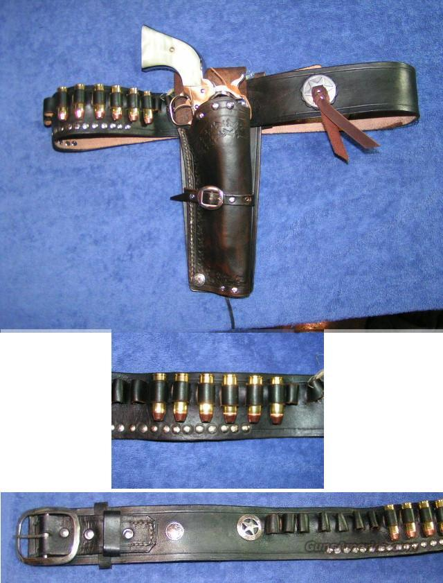 Cowboy holster w belt. Custom made. size 39-44  Non-Guns > Holsters and Gunleather > Cowboy