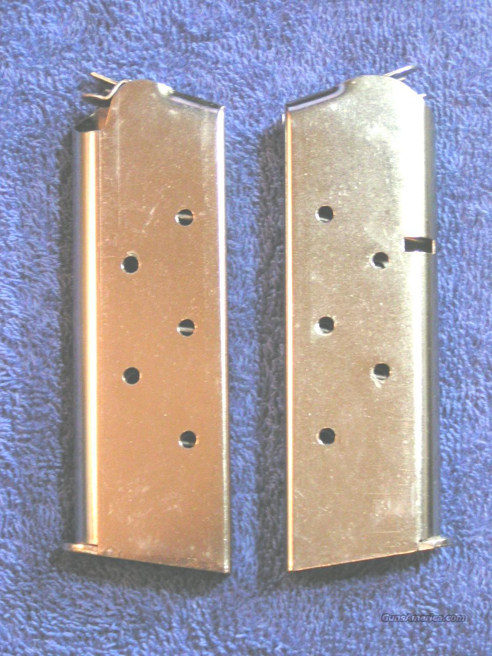 2 Colt officer's mags Nickel 6 rd $29 each mag X 2  officers  Non-Guns > Magazines & Clips > Pistol Magazines > Other