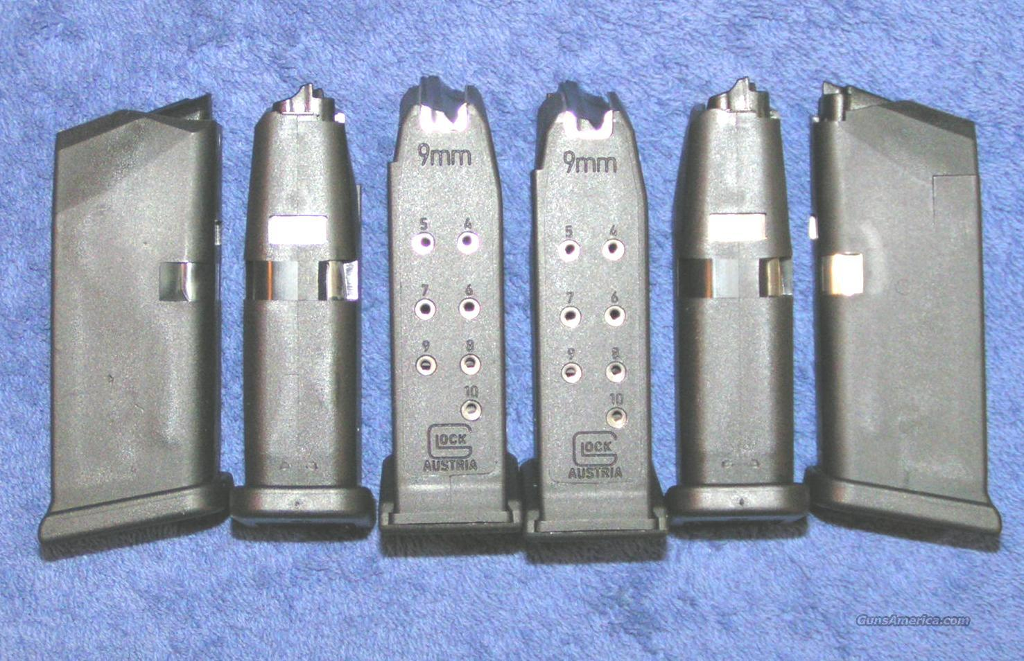 6 Glock 26 mags. factory 9mm 10 round $25 ea   Non-Guns > Magazines & Clips > Pistol Magazines > Sig