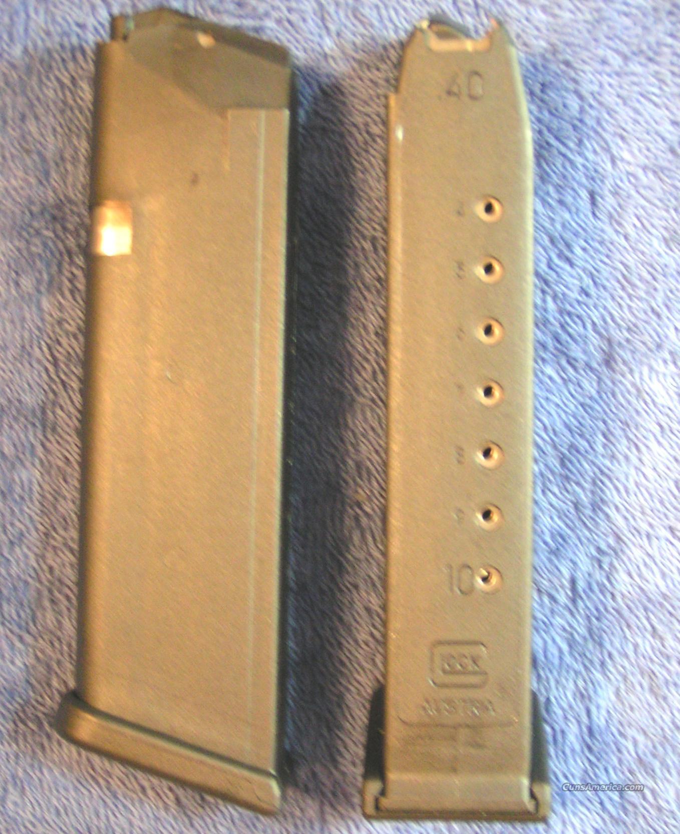 2 Glock 22 mags 10 rd 40S&W factory new  Non-Guns > Magazines & Clips > Pistol Magazines > Glock