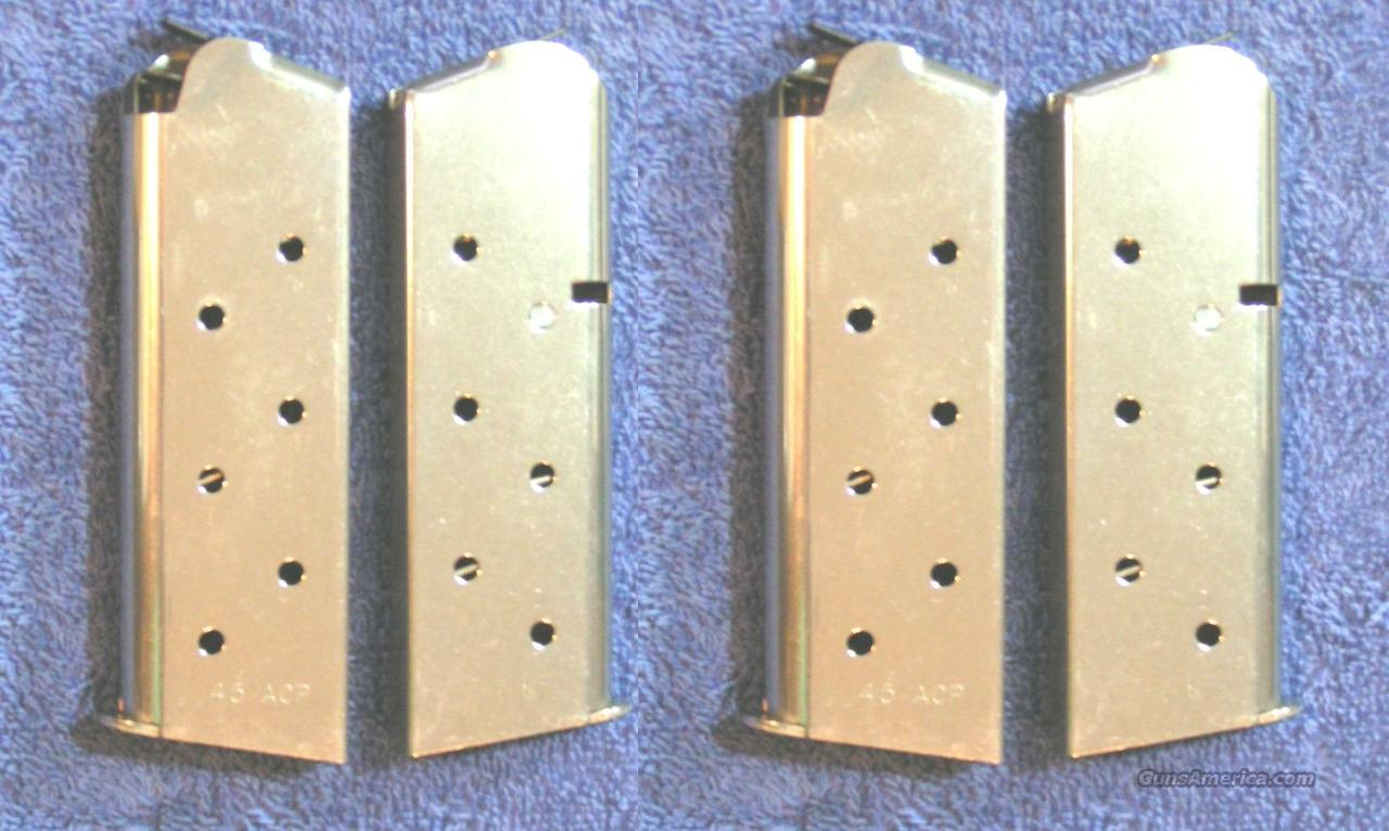 4 Colt officer's mags Nickel 6 rd $29 each mag X 4  officers  Non-Guns > Magazines & Clips > Pistol Magazines > Other