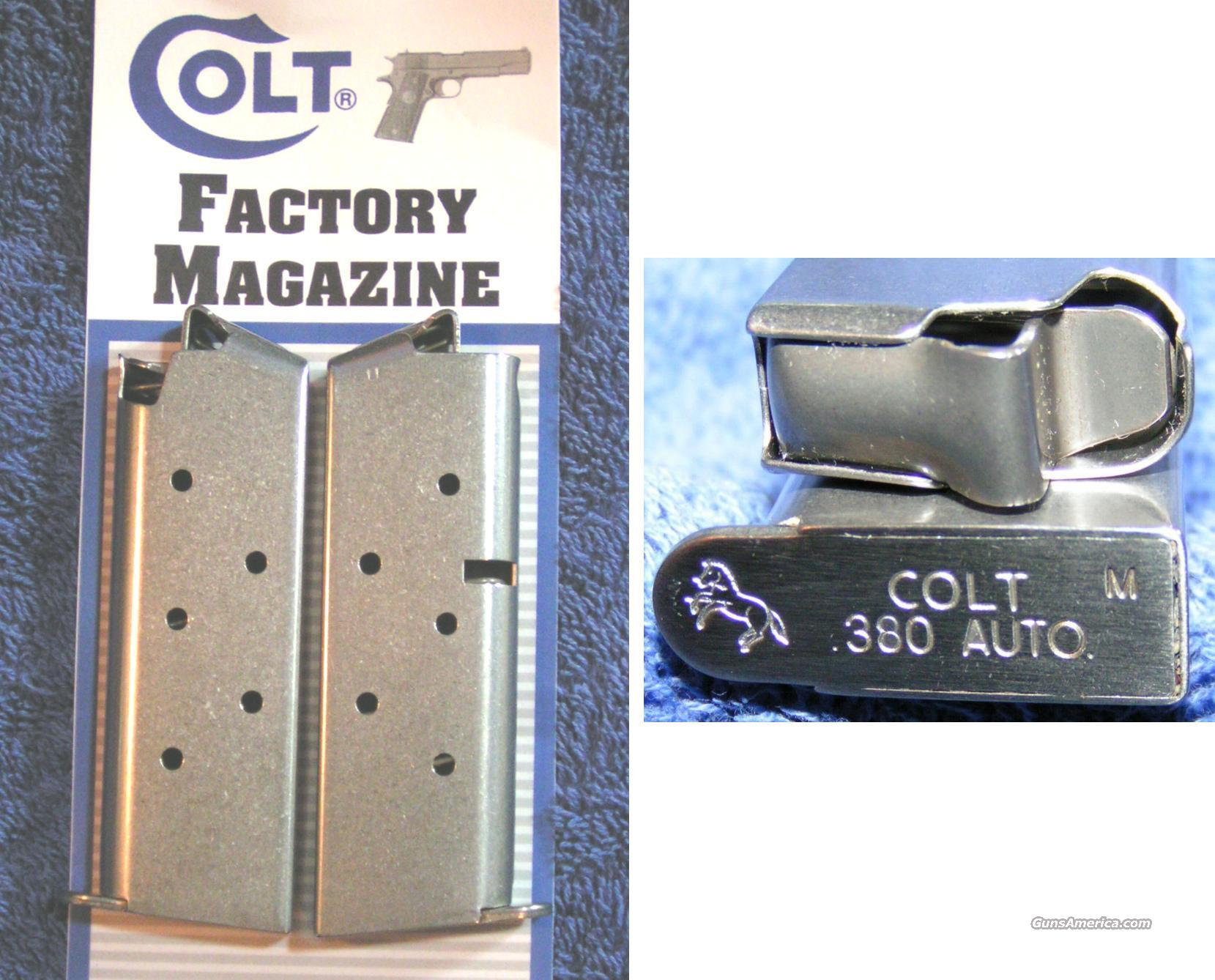 2 Colt Mustang mags. Stainless 6 round Colt $29 each  Non-Guns > Magazines & Clips > Pistol Magazines > Other