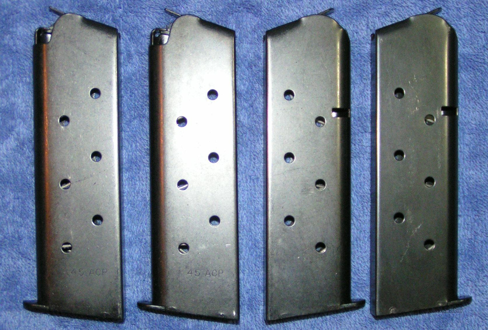 4 Colt 1911 mags. Blue 8 rd Government $26 ea  Non-Guns > Magazines & Clips > Pistol Magazines > Other