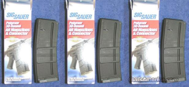 6 AR15 mags SIG 30 round w 3 couplers new $17.50 each  Non-Guns > Magazines & Clips > Rifle Magazines > AR-15 Type