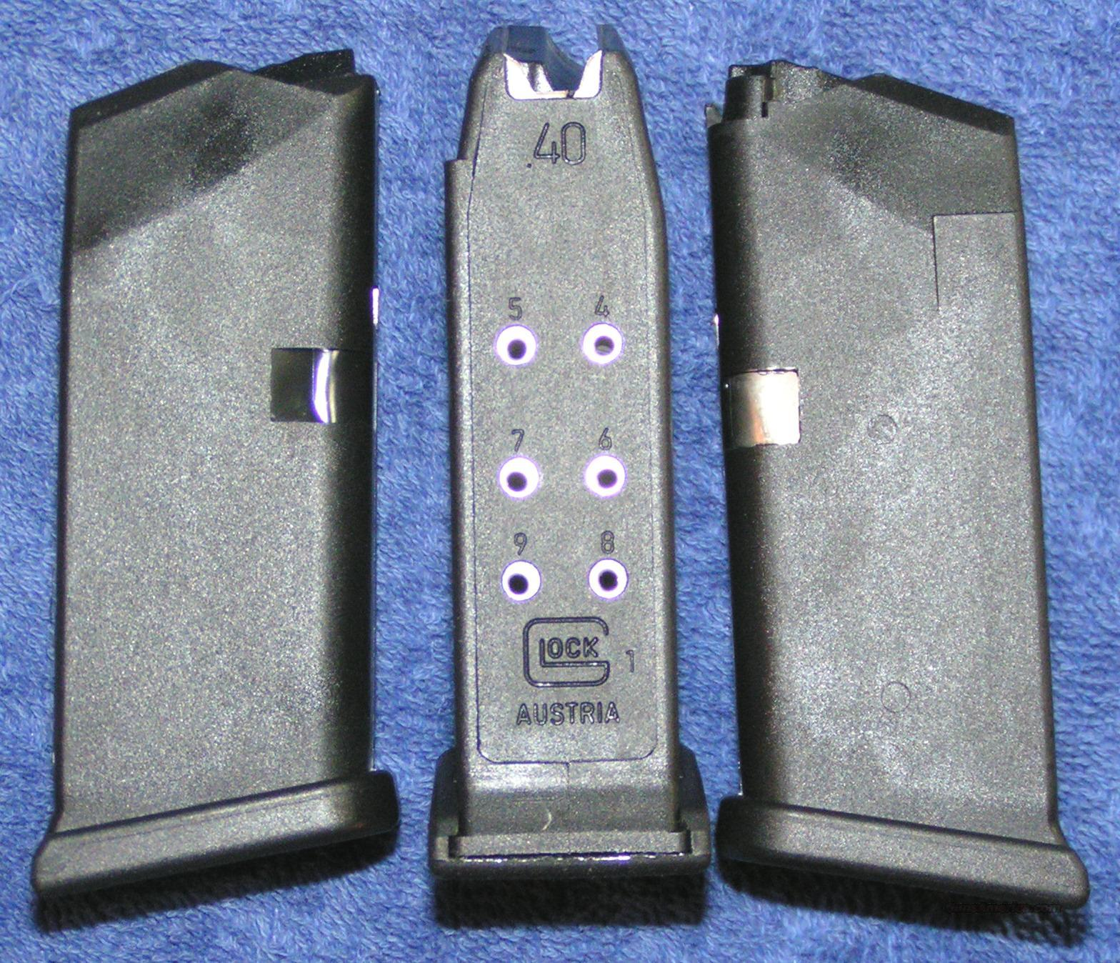 3 Glock 27 mags. New factory 40S&W 9 round $24 ea  Non-Guns > Magazines & Clips > Pistol Magazines > Glock