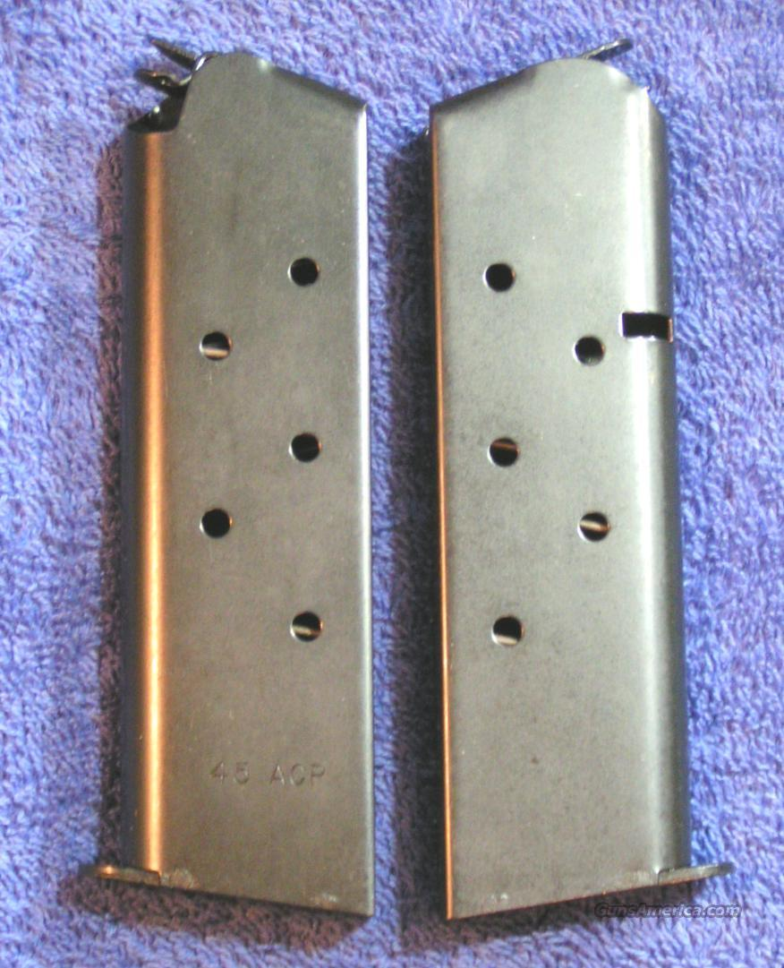 2 Colt 1911 mags. Blue 7 rd Government $20 ea  Non-Guns > Magazines & Clips > Pistol Magazines > Other